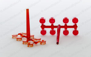 Brizganje plastike - plastično sočivo signalne diode